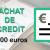 Rachat de crédit de 30 000 euros